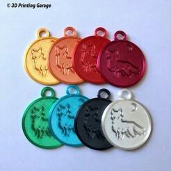 keychaein-wolf-night-1.JPG Download STL file Keychain Wolf Night • 3D print template, 3dprintingspirits