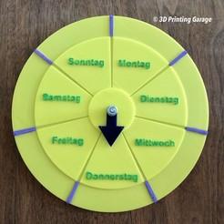 weekdays-clock-1.JPG Télécharger fichier STL gratuit Jours de la semaine - Horloge (apprentissage, activités - calendrier) • Design pour impression 3D, 3dprintingspirits