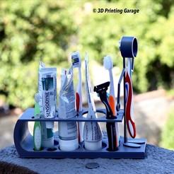 Descargar modelo 3D gratis Arreglador de cuarto de baño (Porta cepillo de dientes) Versión 2, 3dprintingspirits