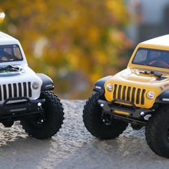 P1011196.JPG Download STL file AXIAL Racing RC SCX24 - Wrangler Jeep - Front Bumper • 3D printing template, 3dprintingspirits