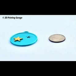 keychain-stars-saturn-jupiter1.JPG Download free 3MF file Keychain Stars (Saturn and Jupiter) • Design to 3D print, 3dprintingspirits