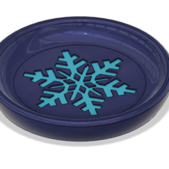 Download free STL file Coaster Winter (Snowflake) multicolor version, 3dprintingspirits