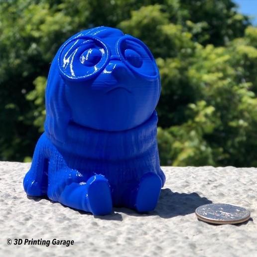 Download free 3D printer designs Sadness (Easy print no support), Alsamen