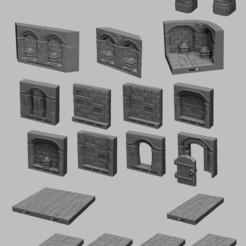 Télécharger fichier imprimante 3D Paysage médiéval - Carreaux de donjon nains, DarkRealms