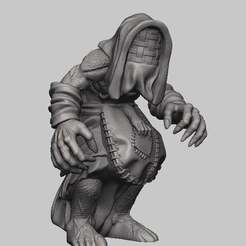 Download free 3D printing files Witcher 3 Crone 2, DarkRealms