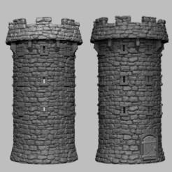 fortTower.jpg Télécharger fichier STL Paysage médiéval - Harbour Fort Tower • Plan à imprimer en 3D, DarkRealms