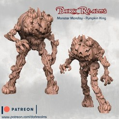 Download free STL file Monster Monday - Pumpkin King • 3D printer design, DarkRealms