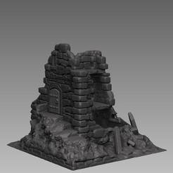 Descargar archivos 3D Paisaje Medieval - Atalaya en ruinas, DarkRealms
