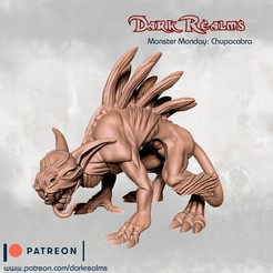 Download free 3D printer templates Monster Monday - Chupacabra, DarkRealms
