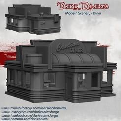 DinerRelease.jpg Télécharger fichier STL Décor moderne - Dîner • Design pour imprimante 3D, DarkRealms