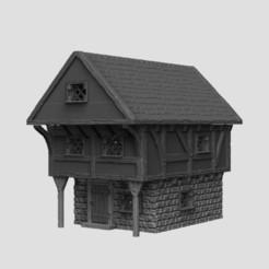 house.jpg Télécharger fichier STL Paysage médiéval - Harbour House & Market Stalls • Modèle pour impression 3D, DarkRealms