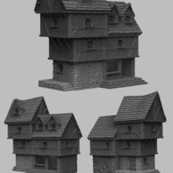 shoppe.jpg Télécharger fichier STL Paysage médiéval - Ye Olde Shoppe • Objet pour imprimante 3D, DarkRealms
