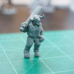 Download free STL file Minotaur with a baseball bat • Design to 3D print, DarkRealms