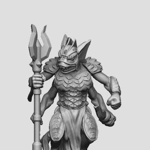 Download free 3D printing models Sahaguin Warrior, DarkRealms