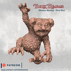 Descargar Modelos 3D para imprimir gratis Lunes de monstruos - Drop Bear, DarkRealms