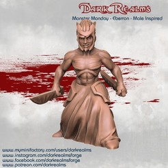 Download free STL file Monster Monday - Eberron - Male Inspired • 3D printing template, DarkRealms
