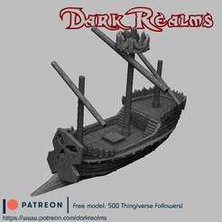 Download free STL file Orc Pirate Ship • 3D printable template, DarkRealms