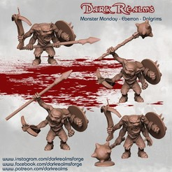 Download free 3D printing templates Monster Monday - Eberron - Dolgrims, DarkRealms