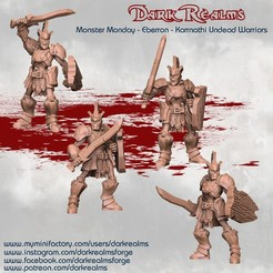 Download free STL file Monster Monday - Eberron - Karrnathi Undead Warriors • 3D printable template, DarkRealms