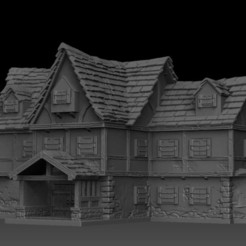 Download STL file Medieval Scenery - The Tavern • 3D printing model, DarkRealms