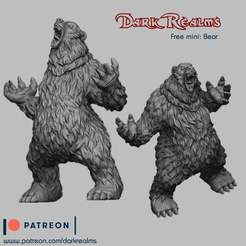 Download free STL files Rawwwwr Bear, DarkRealms