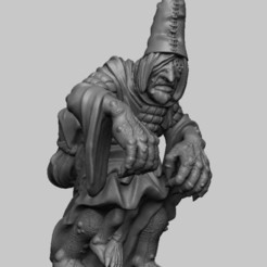Download free 3D printing designs Witcher 3 Crone 3, DarkRealms