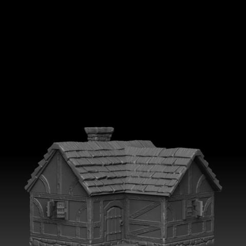 house3_1.jpg Télécharger fichier STL Paysage médiéval - Maison 3 • Design imprimable en 3D, DarkRealms