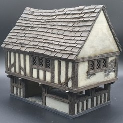 Download 3D printing files Medieval Scenery - Townhall, DarkRealms