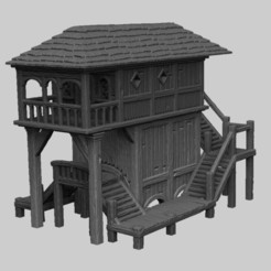Descargar STL Paisaje Medieval - Laketown House 1, DarkRealms