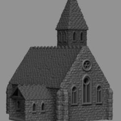 church 1.jpg Télécharger fichier STL Paysage médiéval - Église • Objet pour impression 3D, DarkRealms