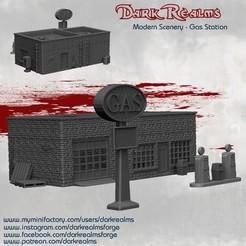 GasStationRelease.jpg Télécharger fichier STL Décor moderne - Station-service • Plan à imprimer en 3D, DarkRealms