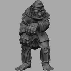 Download free STL file Medieval Deep Ones Hybrid • 3D print model, DarkRealms