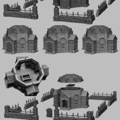 Mausoleum.jpg Télécharger fichier STL Paysage médiéval - Mausolée • Objet imprimable en 3D, DarkRealms