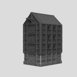 Download STL file Medieval Scenery - Harbour Warehouse, DarkRealms