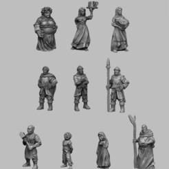 NPC.jpg Télécharger fichier STL Paysages médiévaux - PNJs • Plan à imprimer en 3D, DarkRealms