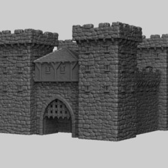 Download 3D printing files Medieval Scenery - Castle Gatehouse, DarkRealms