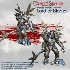 Download free STL file Monster Monday - Eberron - Lord of Blades • 3D printing template, DarkRealms