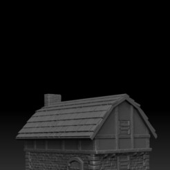 Download 3D printer designs Medieval Scenery - House 2, DarkRealms