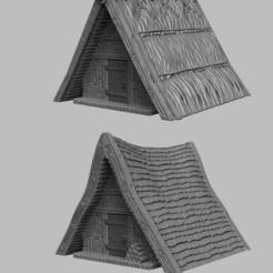 Télécharger plan imprimante 3D Paysage médiéval - Cabanes d'envahisseurs, DarkRealms