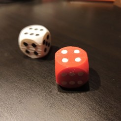 IMG_20201207_220202.jpg Download STL file Dice full color Cube for games • 3D printer design, michaldyra