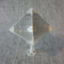 Download free 3D printer templates Octahedral Radar Reflector (Radar Target Enhancer), whoopsie