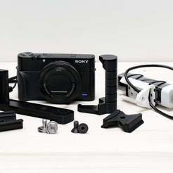 Download free 3D print files Sony DSC RX100VA RX100M5A Bracket Grip Extension, whoopsie