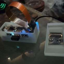 Télécharger plan imprimante 3D gatuit Pi Zero + Zero4U Boîtier CCTV Zero4U, Xylitol