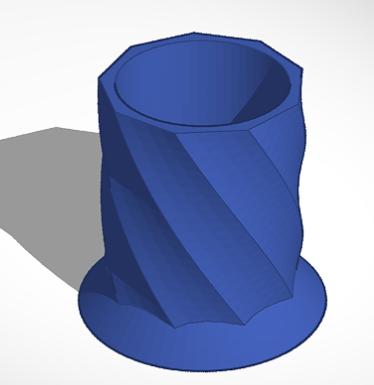 Piaçaba.PNG Download STL file Holder Cup spiral • 3D printing object, pedrodbsduarte