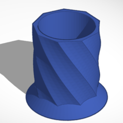 Download free 3D printer designs Holder Cup spiral, pedrodbsduarte