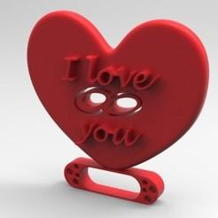 Descargar archivos STL I love you, fernanda_flores