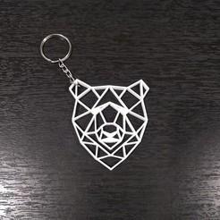 Llavero Oso 3.jpg Download STL file Bear Geometric Key Ring • 3D printable object, samilena9215