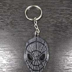 LLavero Spiderman 3.jpg Download STL file Spiderman key ring • 3D printer object, samilena9215