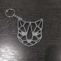 Llavero Gato Ojos 4.jpg Télécharger fichier STL Porte-clés géométrique Cat 2 • Design pour impression 3D, samilena9215