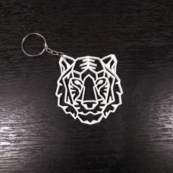 Llavero Tigre 3.jpg Télécharger fichier STL Porte-clés Tigre Géométrique • Design pour imprimante 3D, samilena9215